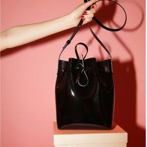 NWT Mansur Gavriel Patent Mini Bucket Bag